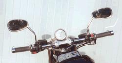 Black or Chrome flat handlebars